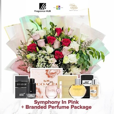 Symphony in Pink + Fragrance Hub Branded Perfume (By: Pretty Petals from Kuching)
