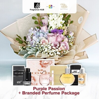 Purple Passion + Fragrance Hub Branded Perfume (By: Pretty Petals from Kuching)