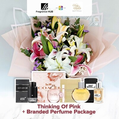 Thinking Of Pink + Fragrance Hub Branded Perfume (By: Pretty Petals from Kuching)