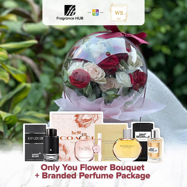 Only You Flower Bouquet + Fragrance Hub Branded Perfume (By: Wan Soon Florist from Miri)