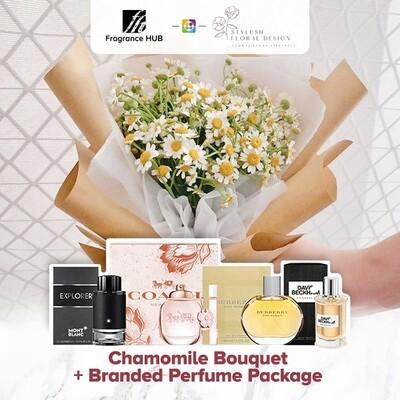 Chamomile Bouquet + Fragrance Hub Branded Perfume (By: Stylush Studio Floral Design from Kota Kinabalu)