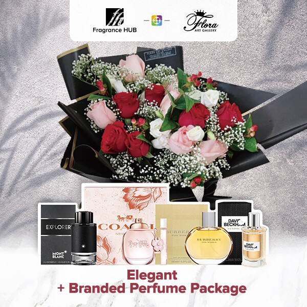 Elegant + Fragrance Hub Branded Perfume (By: Floral Art Gallery from Puchong)