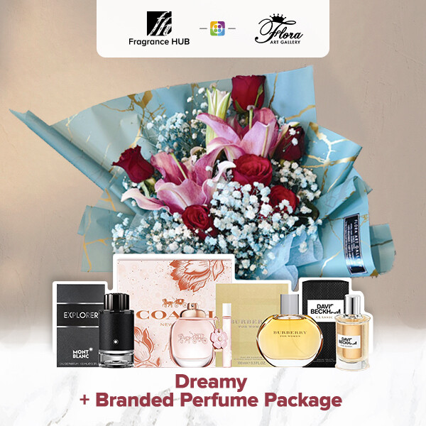 Dreamy + Fragrance Hub Branded Perfume (By: Floral Art Gallery from Puchong)