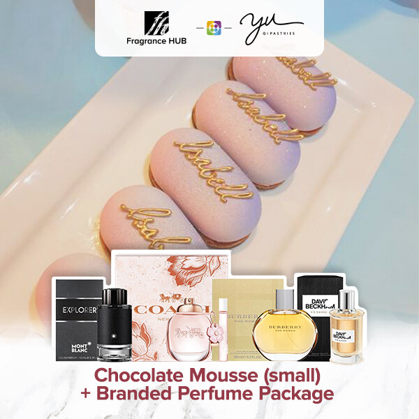 Chocolate Mousse (Small) + Fragrance Hub Branded Perfume (By: Yu.Qi Pastries from KL)