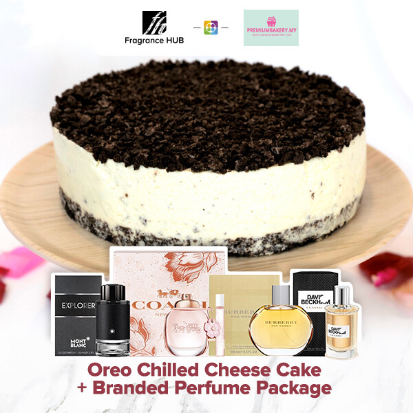 Oreo Chilled Cheese Cake + Fragrance Hub Branded Perfume (By: Premium Bakery from KL)