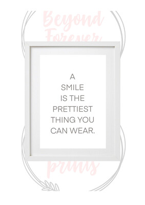 A Smile, Is The Prettiest Thing