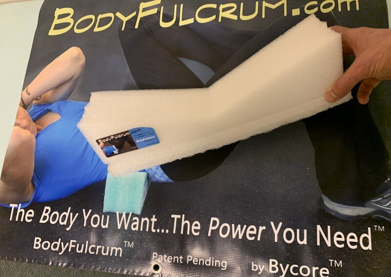 2-inch BodyFulcrum® White Extra Firm and a taller height for Deep self Muscle Massage for Glute Medius, Piriformis, IT Band, Core exercises, and Back Stretch Height, Free Shipping Ground