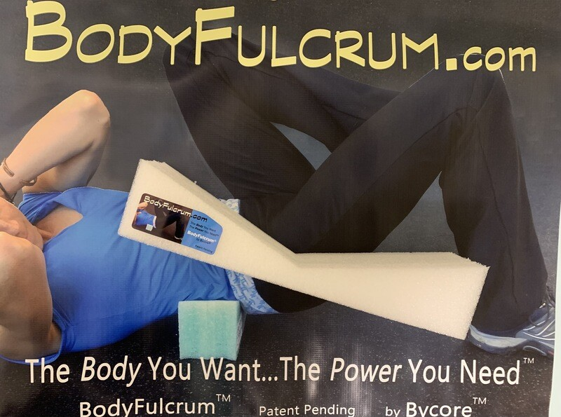 1-inch BodyFulcrum® White Extra Firm Premium Core and Back Stretch Height, Free Shipping Ground