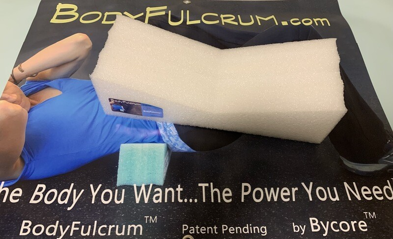 2-inch BodyFulcrum® Extra Wide White extra firm for a larger person, comfortable self Muscle Massage for Glutes, Piriformis, IT Band, Core exercises. Free Shipping Ground.