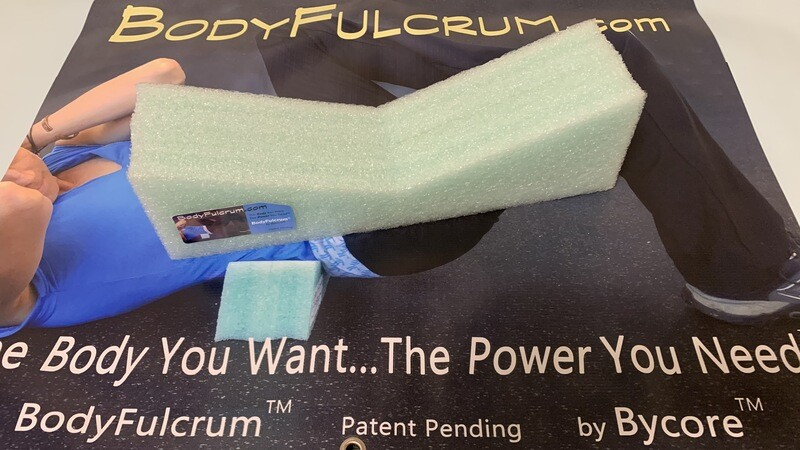 2-inch BodyFulcrum® Extra Wide Comfort Green wider & taller for a larger person, comfortable self Muscle Massage for Glutes, Piriformis, IT Band, Core exercises. Free Shipping Ground.