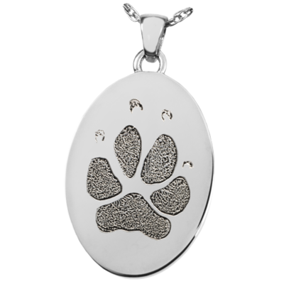 Oval Paw or Nose Print