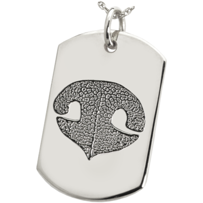 Dog Tag with Paw or Nose Print