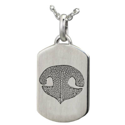 Petite Dog Tag with Nose or Paw Print