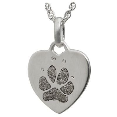 Petite Heart with Nose or Paw Print