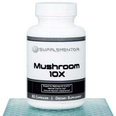 Mushroom 10x Complex 60 Count Capsules Supplement