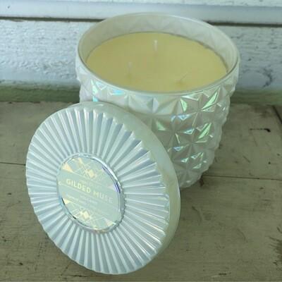 Volcano - 30 oz White Opal Jumbo Faceted Jar