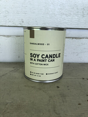 Sandalwood Soy Candle In A Paint Can