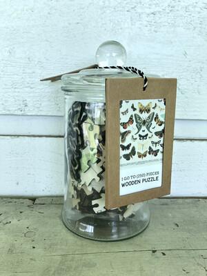 Butterflies + Moths In Glass Jar