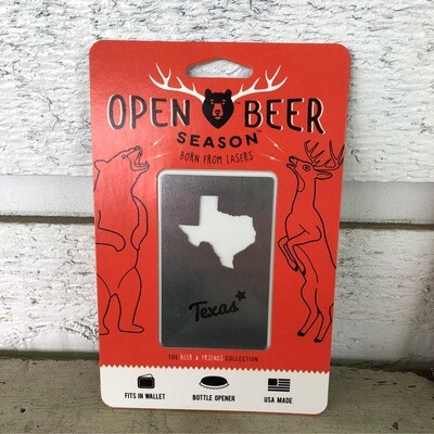 Texas Wallet Bottle Opener