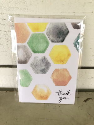 Colorful Honeycomb Card