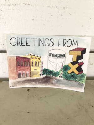 Water Color Picture Post Card