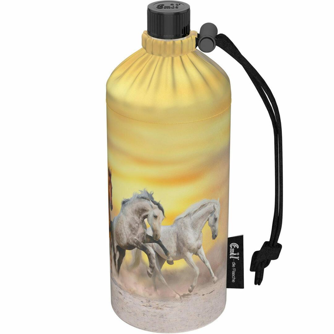 """0.4 Liter Flasche normale Öffnung """"Wildpferde"""""""