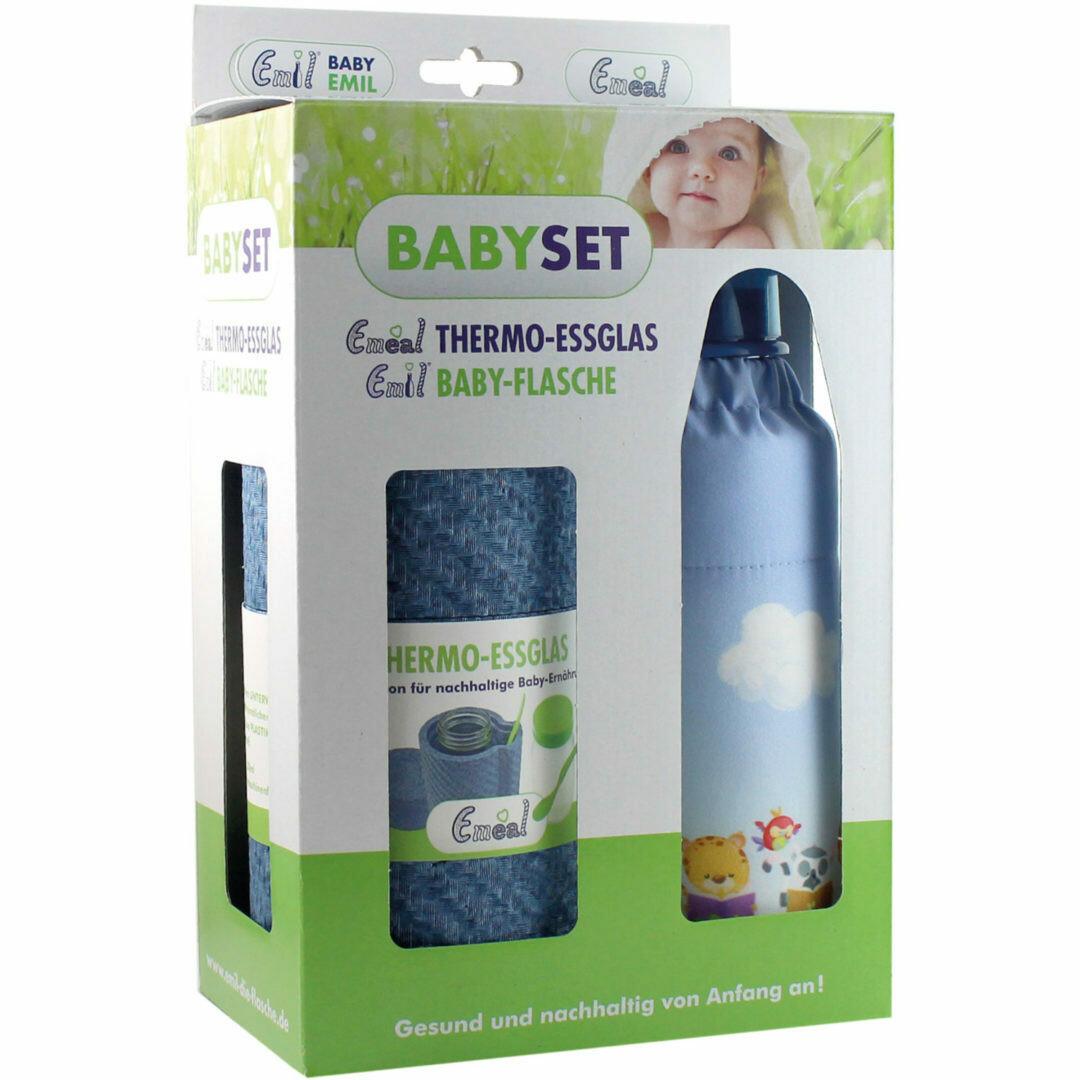 "Baby Set Thermo Essglas & Glasflasche ""Lesefreunde"""