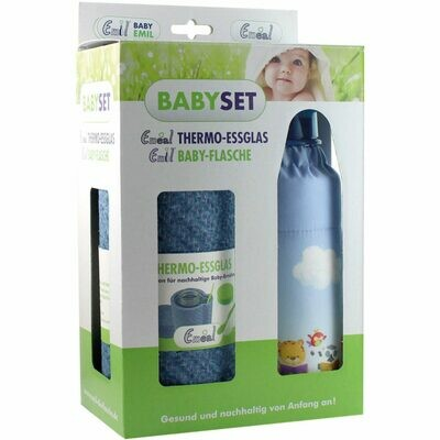 Baby Set Thermo Essglas & Glasflasche