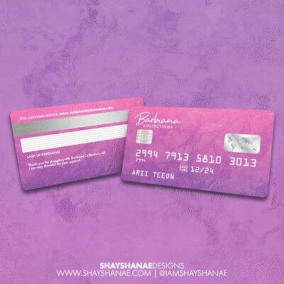 Credit Card Inspired Business Card Design