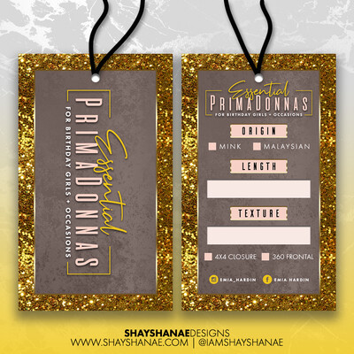 Hang Tags (Design or Print)