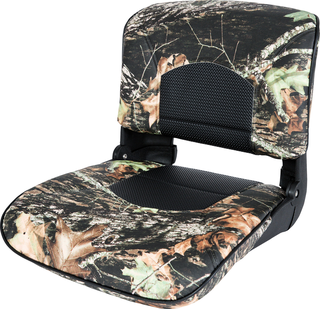 Profile™ Guide Series Boat Seat & Cushion Combo - Mossy Oak Break-Up / Black Perf