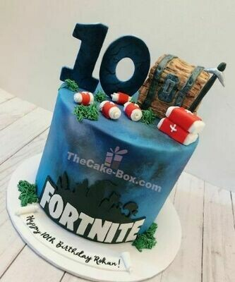 Fornite 1 Themed Cake