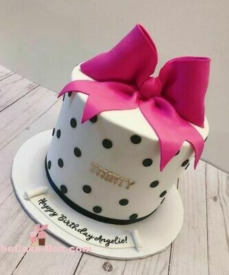 Pink Bow Themed Cake