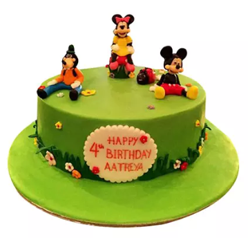 Mickey and Family Kids Cake