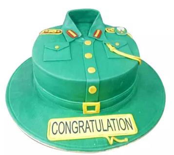 Military Uniform Cake