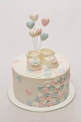 Little Booties Baby Shower Cake