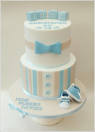 Dapper Baby Boy Cake