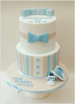 Dapper Baby Boy Cake