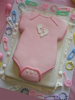 Baby Girls Onesie Cake