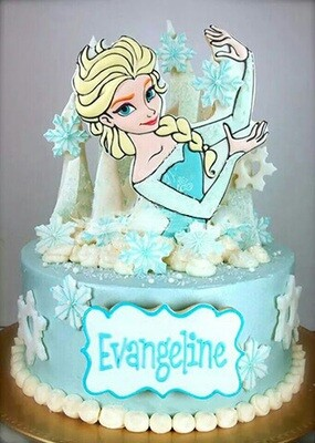 Queen Elsa Themed Cake 1