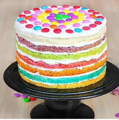 M and M Rainbow Cake