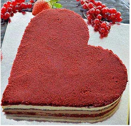 Heart Velvet Cake