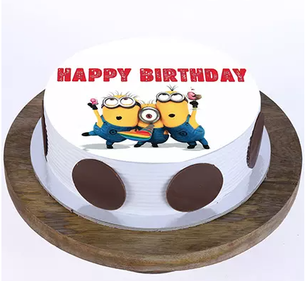 Minions Truffle Cake