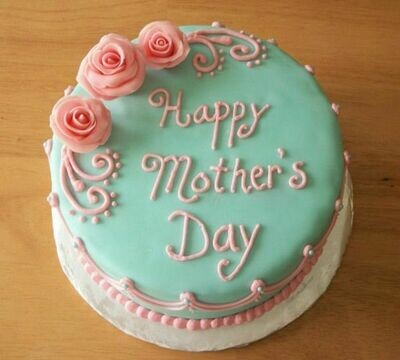 Pink & Blue Mother's Day Cake - Ask For Price