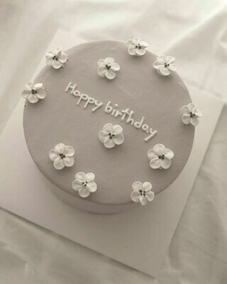 Happy Birthday Mommy  Grey Cake - Ask for Price