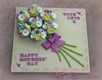 Flower Board Mothers Day Cake - Ask for Price