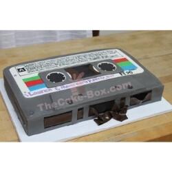 Grey Audio Retro Cassette Cake