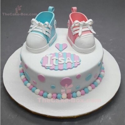 It's a Boy or Girl Baby Shower Cake