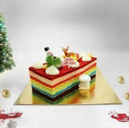 Rainbow Log cake