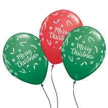 Merry Christmas Latex Balloon